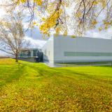 Exterior of the Museum's Contemporary galleries in the fall